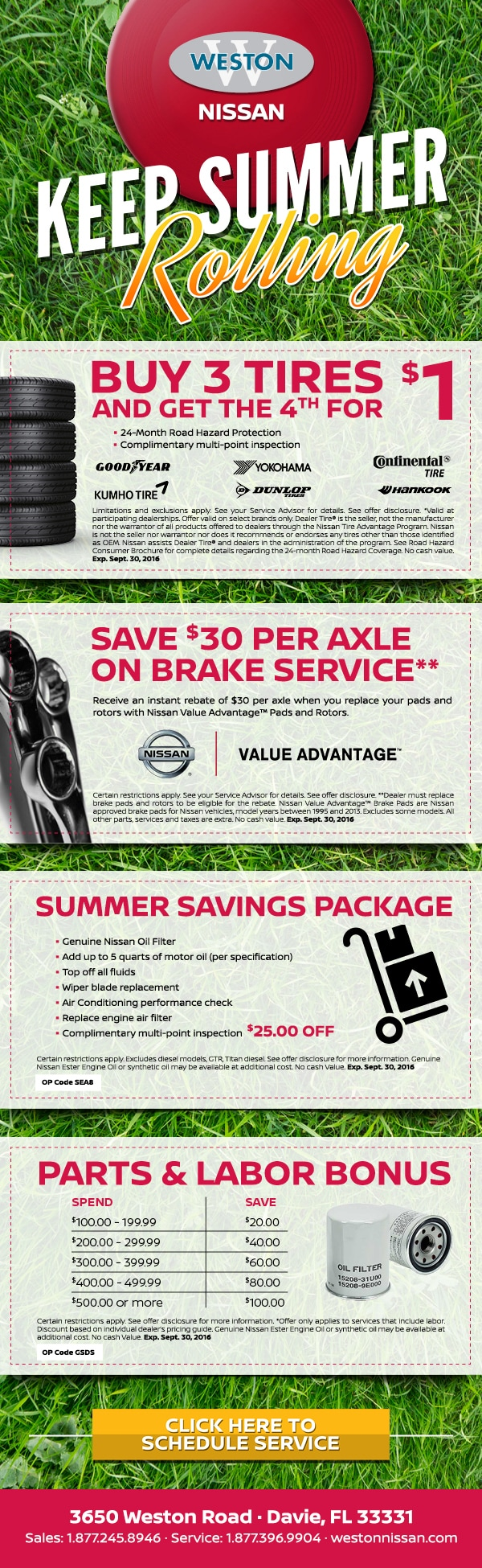 Nissan oil change coupon miami - Earthbound trading company coupons 2018