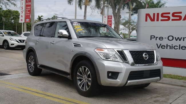 certified used 2017 Nissan Armada 4x2 SL Sport Utility for sale in Ft Lauderdale