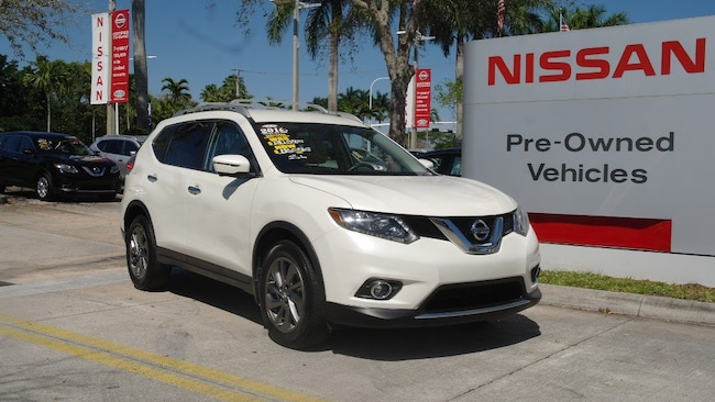 certified used 2016 Nissan Rogue FWD 4dr SL Sport Utility for sale in Ft Lauderdale