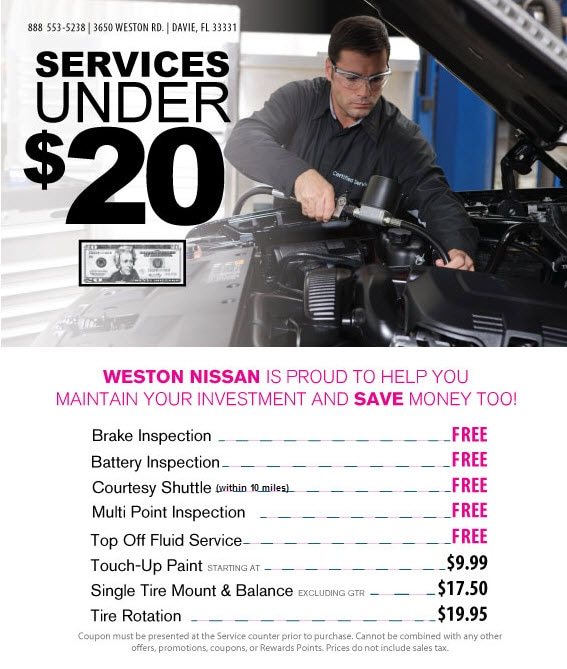 Auto Service & Repairs In Broward County Under $20