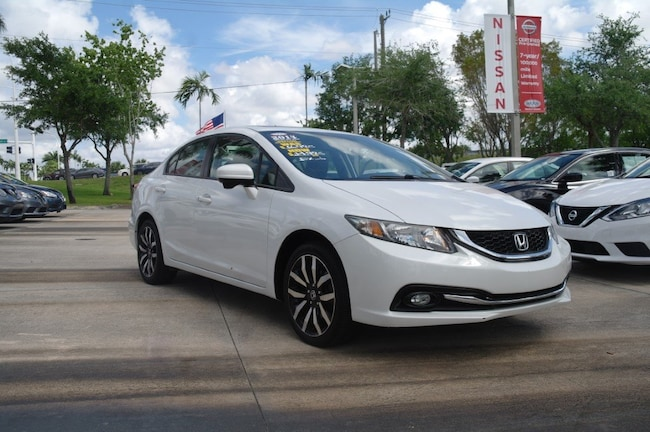 used 2014 Honda Civic 4dr CVT EX-L Car for sale in Ft Lauderdale