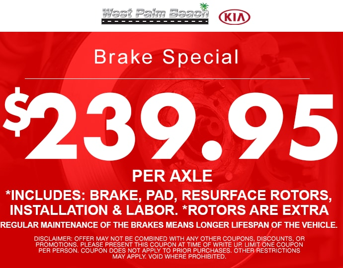 Brakes Service Special At West Palm Beach Kia With.