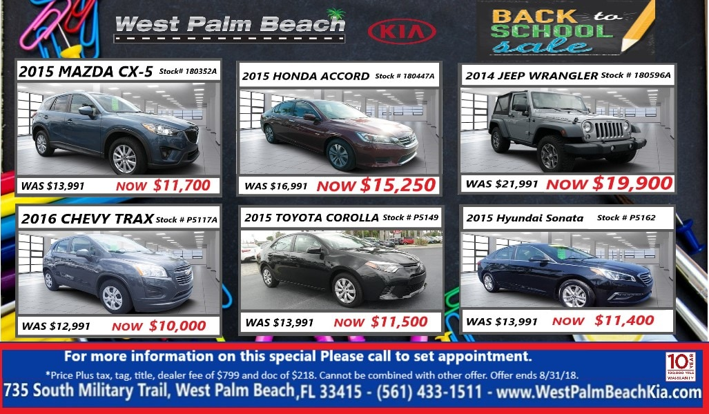 Used Specials At West Palm Beach Kia