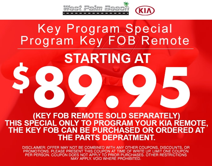 Exceptional Key Programming Special At West Palm Beach Kia With.
