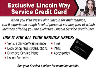 EXCLUSIVE LINCOLN WAY SERVICE CREDIT CARD