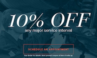 10% Off any Major Service Interval