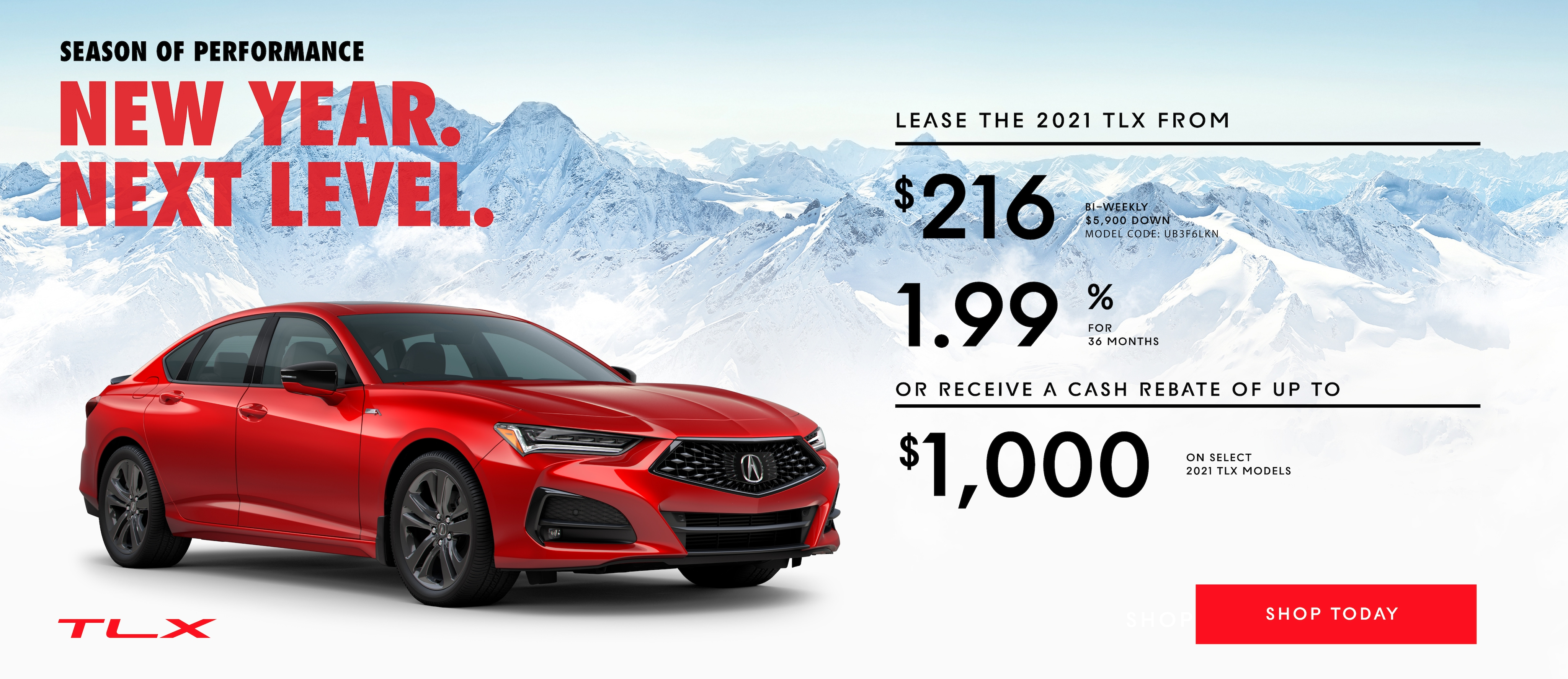 Promotion for leasing the 2020 Acura MDX