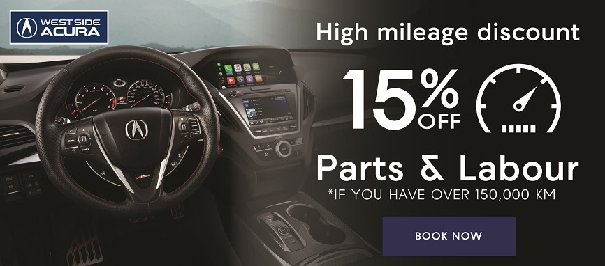 15% Off if you have over 150,000 KM
