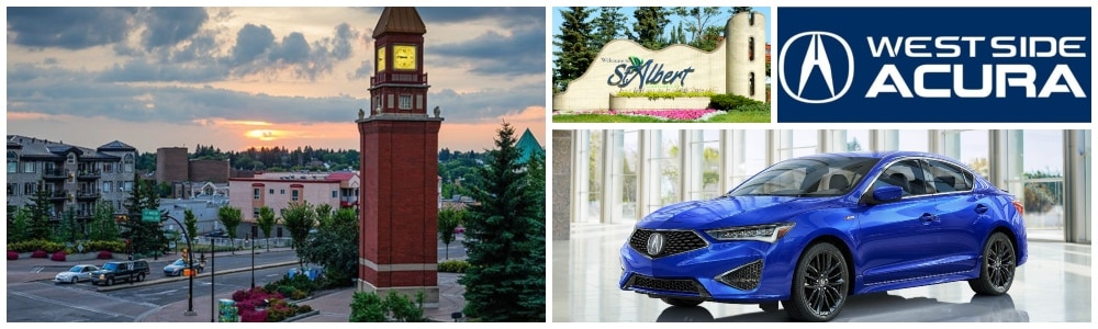 West Acura Dealership serves the St Alberta, AB area for new cars, used cars, parts and service