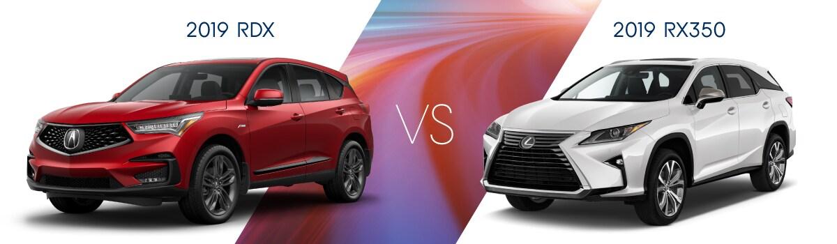 2019 RDX vs Lexus RX 350 | West Side Acura