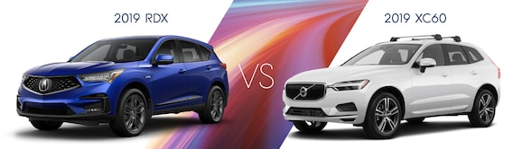 2019 Acura Rdx Vs 2019 Volvo Xc60 West Side Acura