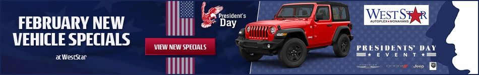 February New Vehicle Specials