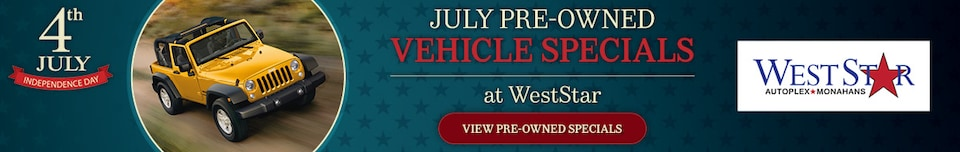July Pre-Owned Vehicle Specials