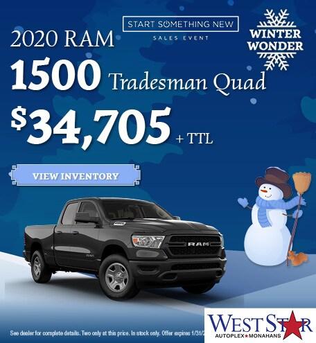 January 2020 RAM 1500 Tradesman Quad