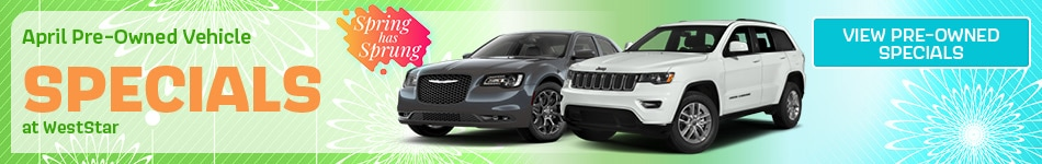 April Pre-Owned Vehicle Specials