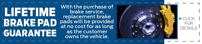 Lifetime Brake Pad Guarantee, Grapevine