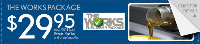 The Works Oil Change Coupon, Las Colinas