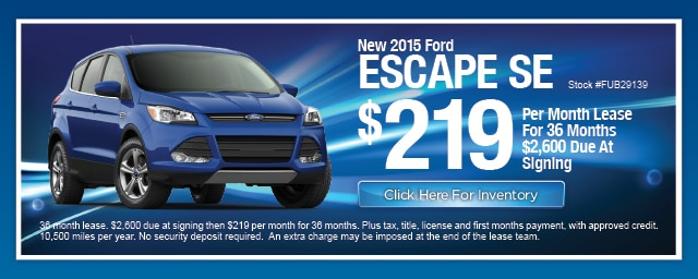 New Ford Escape Lease Special, Irving, Las Colinas, Texas