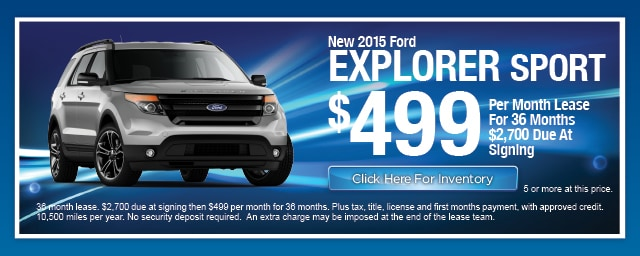 New Ford Explorer Sport Lease Special, Irving, Las Colinas, Texas