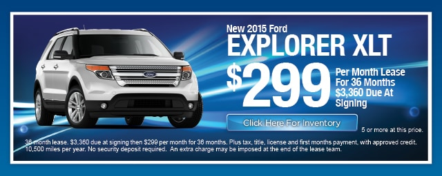 New Ford Explorer Lease Special, Irving, Las Colinas, Texas