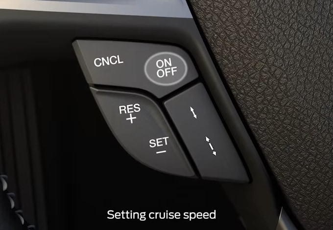 Setting Speed With Ford Adaptive Cruise Control