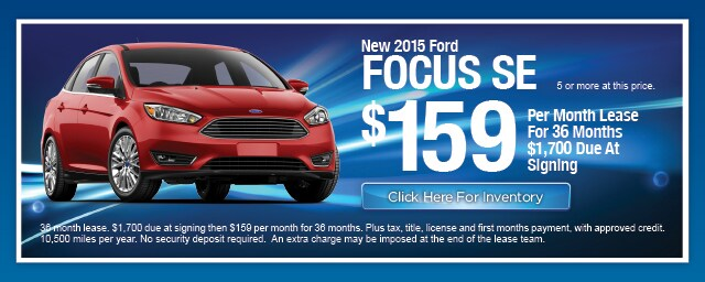 New Ford Focus Lease Special, Irving, Las Colinas, Texas