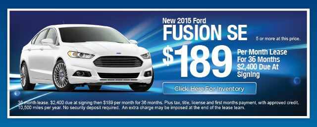 New Ford Fusion Lease Special, Irving, Las Colinas, Texas