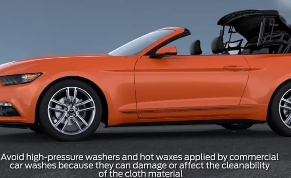 Ford Mustang with convertible fabric top
