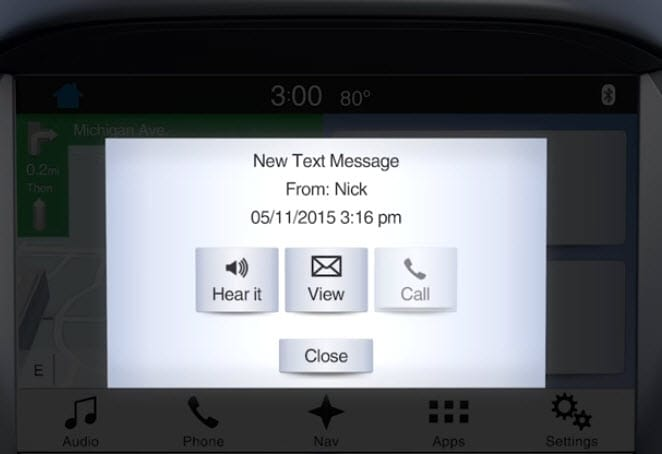 Ford SYNC 3 text messaging how to