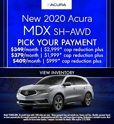 January 2020 Acura MDX Pick Your Payment