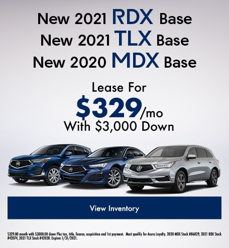 New 2021 RDX Base New 2021 TLX Base New 2020 MDX Base