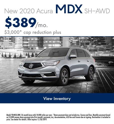 November 2020 MDX Lease