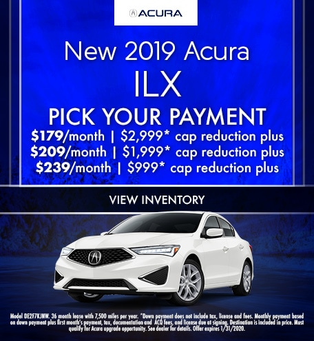 January 2019 Acura ILX Pick Your Payment