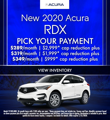 January 2020 Acura RDX Pick Your Payment