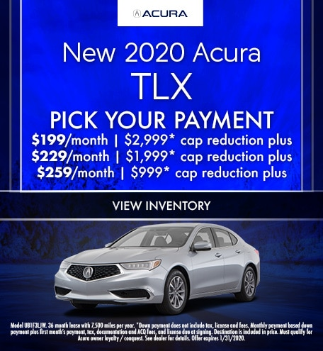 January 2020 Acura TLX Pick Your Payment