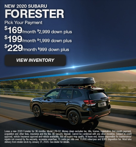 January 2020 Forester Lease