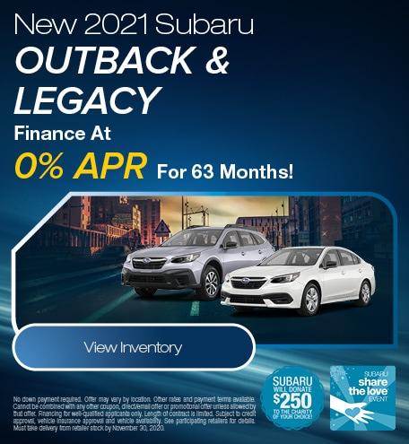 New 2021 Subaru Outback & Legacy