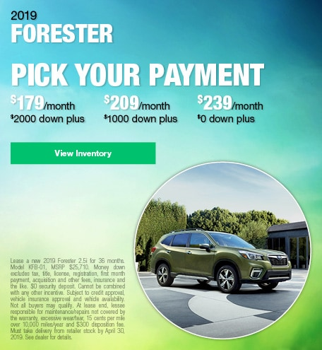 April 2019 Forester Lease