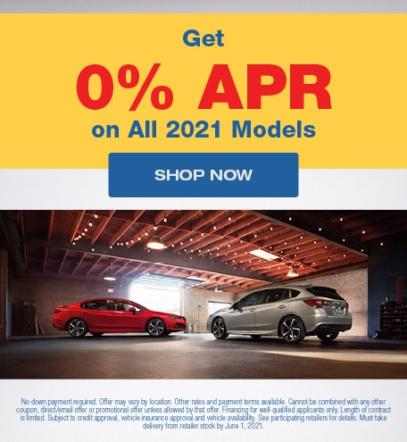Get 0% APR on All 2021 Models