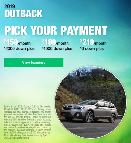 April 2019 Outback Lease