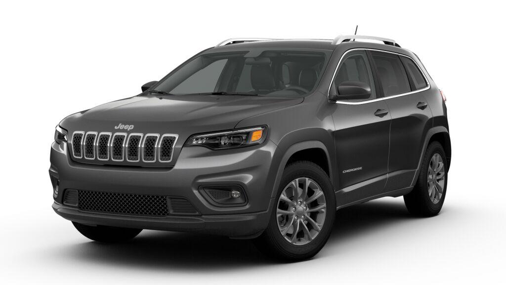 New 2019 Jeep Cherokee LATITUDE PLUS 4X4 bright white exterior black interior Stock 190603J VIN