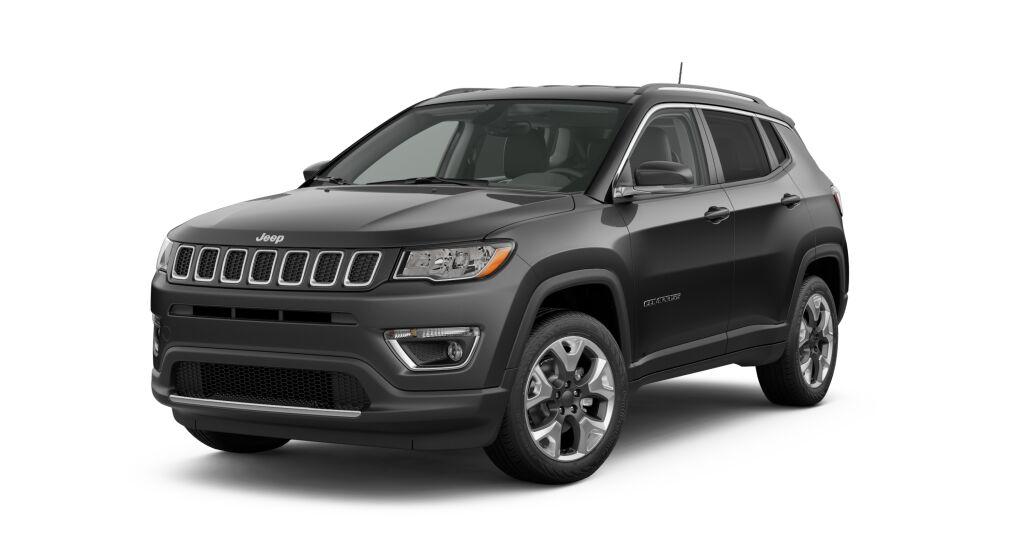 New 2019 Jeep Compass LIMITED 4X4 diamond black crystal pearlcoat exterior black interior 0 miles