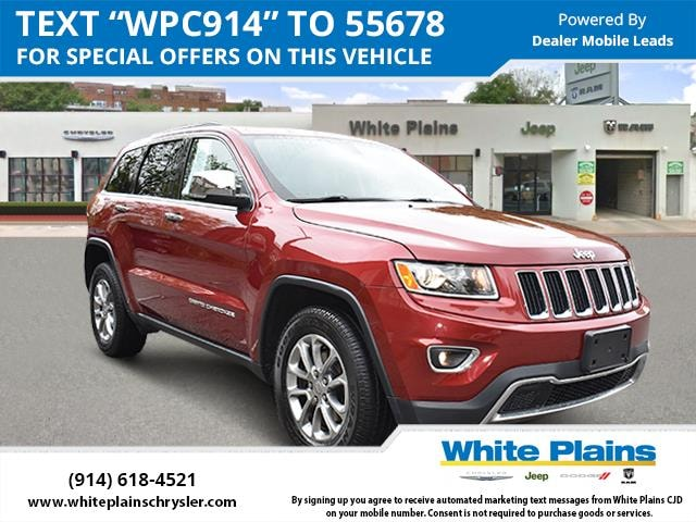Certified 2015 Jeep Grand Cherokee Limited Leather Sunroof NAV deep cherry red crystal pearlcoat
