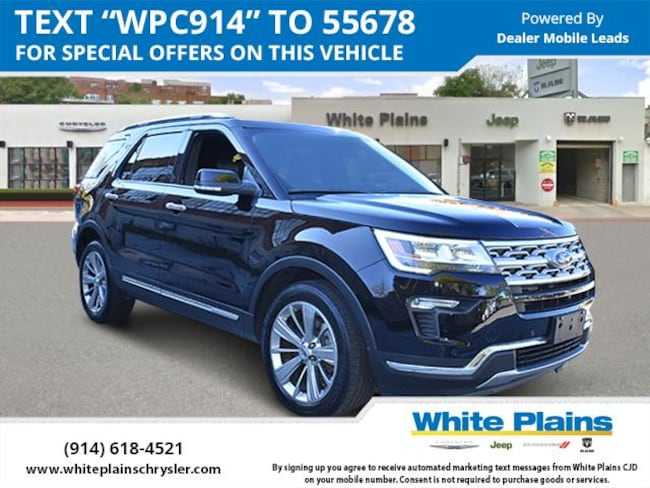 2018 Ford Explorer Limited 4WD Sport Utility for sale in White Plains, NY at White Plains Chrysler Jeep Dodge