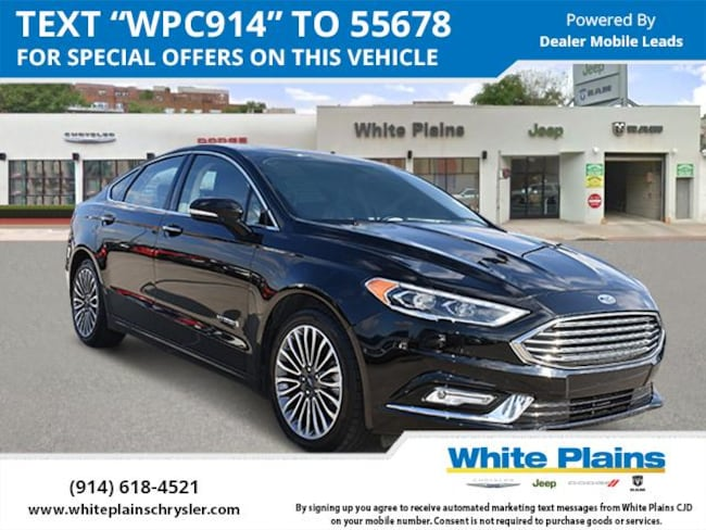 2017 Ford Fusion Hybrid Titanium FWD Car for sale in White Plains, NY at White Plains Chrysler Jeep Dodge