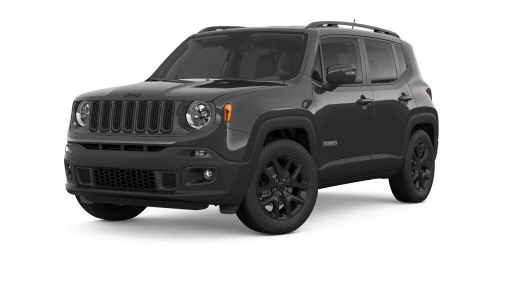 New 2018 Jeep Renegade ALTITUDE 4X4 black exterior black interior Stock 182444J VIN ZACCJBBB8J