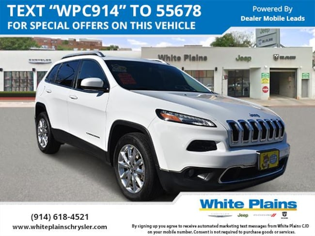 2016 Jeep Cherokee 4WD 4dr Limited Sport Utility for sale in White Plains, NY at White Plains Chrysler Jeep Dodge