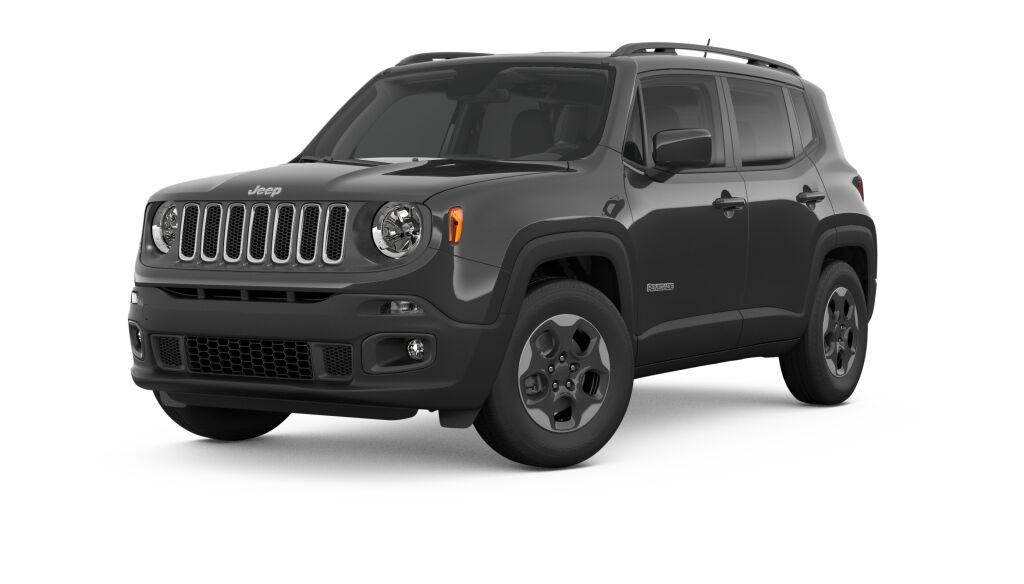 New 2018 Jeep Renegade LATITUDE 4X4 alpine white exterior black interior Stock 182314J VIN ZAC