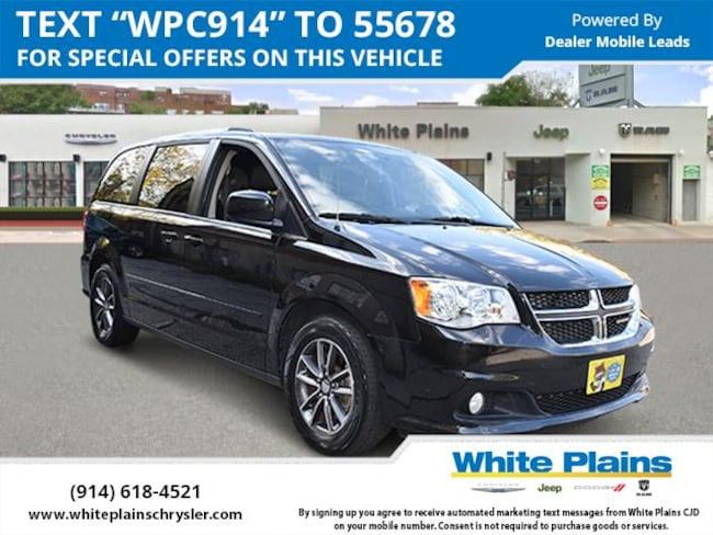 Certified Used 2017 Dodge Grand Caravan Sxt Wagon For Sale White