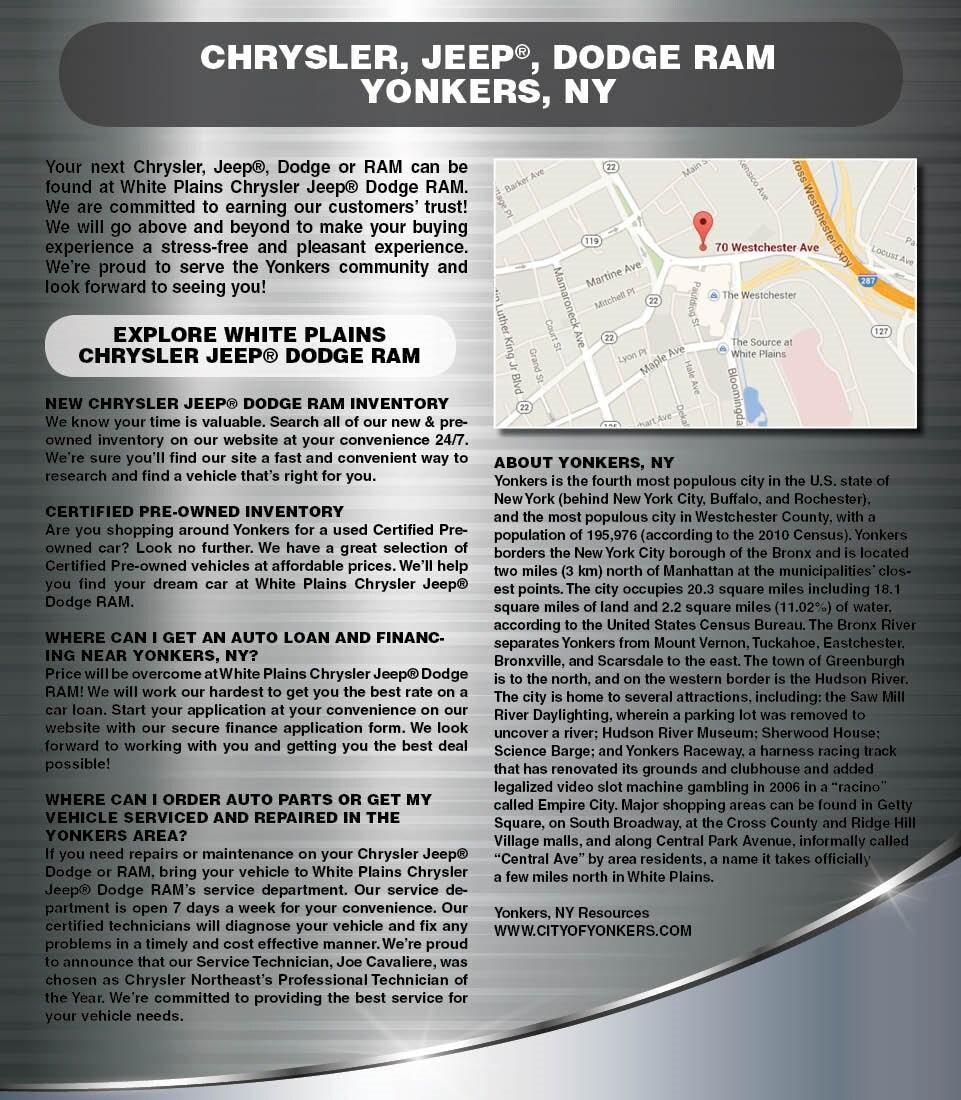 White Plains Chrysler - Serving Yonkers, NY